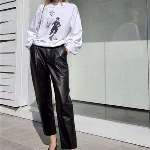 Anine Bing Ramona David Bowie White Sweatshirt XS
